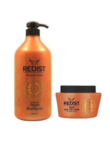 Redist Argan şampuan 1000 ml + Argan Maske 500 ml Renksiz
